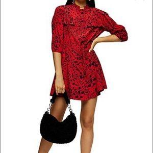 TOPSHOP Animal Print Mini Dress